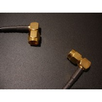 Cable(RG58) SMA 90 degrees Plug/ 90 degrees Plug 29cm