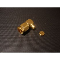SMA 90 degrees plug(solder) cable RG405 Gold Plated
