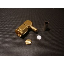 SMA 90 degrees plug(crimp) cable RG174 Gold Plated