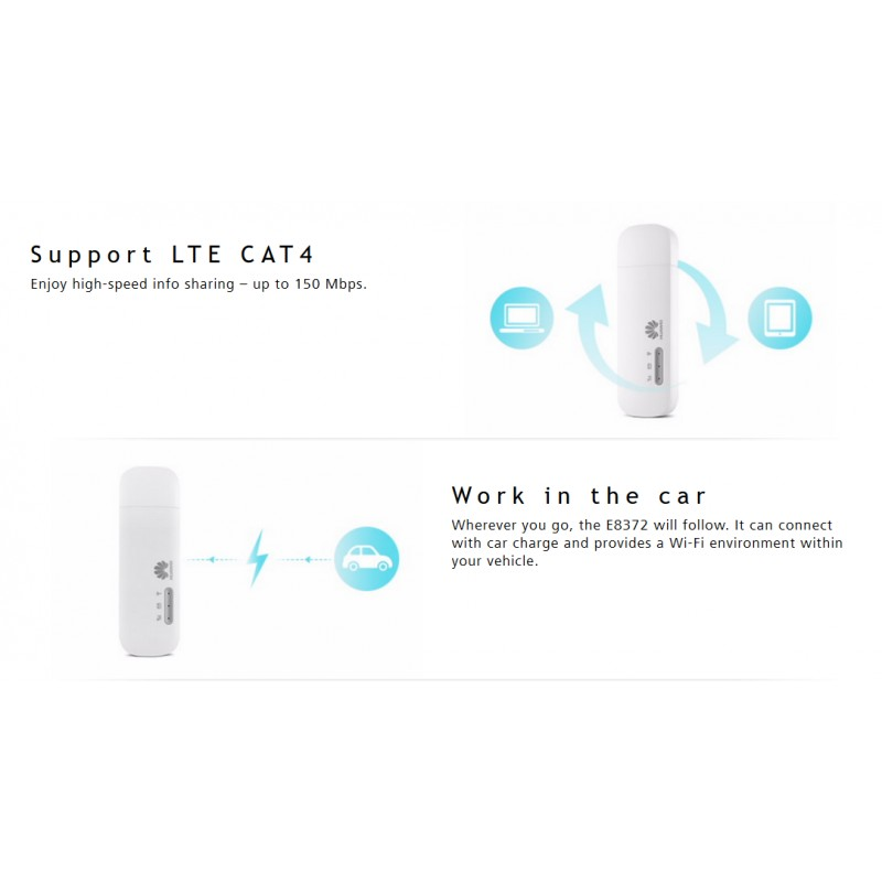 Huawei E8372-608 4G LTE unlocked pocket wifi dongle 700MHz_car suitable